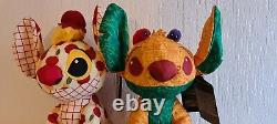 Disney Store Stitch Crashes Peluche Lady And The Tramp & The Lion King 2/12 & 3/12