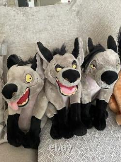 Disney Store Très Rare Le Roi Lion Hyenas 15ed Banzi Shenzi&18scar Plushes
