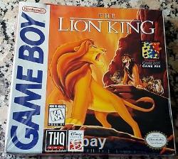Disney The Lion King Brand New Mega Rare Nintendo Gameboy 1989 Fabriqué Au Japon $$