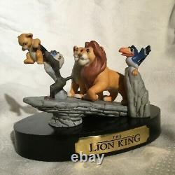 Disney The Lion King Simba Pride Rock The New Prince Ceramic Figurines Statue