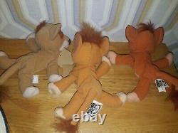 Disney The Lion King Simba's Pride Mattel 1998 Beanie Peluche Set Kovu/vitani/nuka
