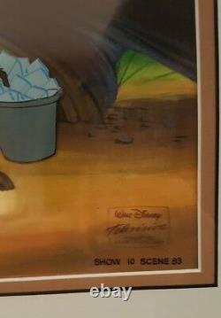 Disney Tv Hand Painted Production Animation Cel The Lion King Timon & Pumbaa