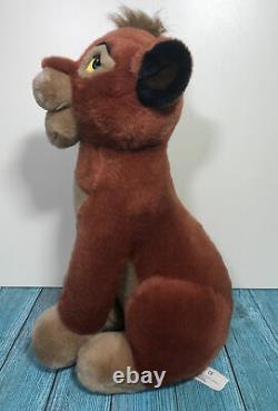 Disney Vintage Très Rare Sitting Lion King Kovu Peluche Soft Toy Large