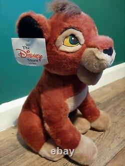 Disney Vtg Retro The Lion King Sitting Kovu Ultra Rare Simba Nala Peluche Jouet Tag