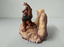 Disney Wdcc Le Lion King Scar Life N'est Pas Juste, Est-ce Figurine Avec Box & Coa