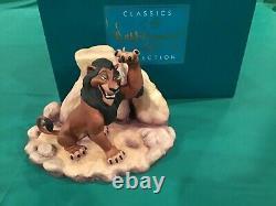 Disney Wdcc Lion King Scar Dealer Display La Vie N'est Pas Juste, Est-ce Box / Coa