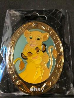 Disney Young Simba And Nala Cats Wdi Oval Gold Section Le 300 Pin