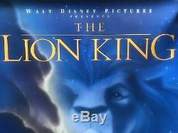 Disney's King 1994 Le Lion Ds Authentiques Original Rolled Affiche Du Film 27x40