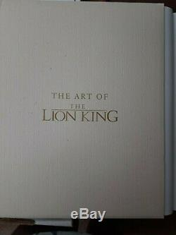 Disney's King Ltd Ed Lion Livre # 3359/3500 Withsericel Signé Par 4 Disney Artistes