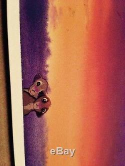 Disney's Lion King Concept Art Simba Et Narla Comme Enfants, Super Scène