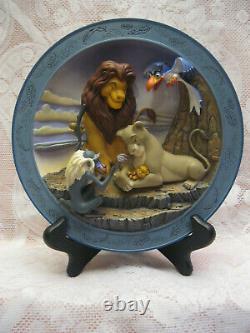 Disney's The Lion King 3d Plate Set Of Four Lmtd. Ed. Mint