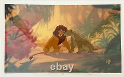 Disney's The Lion King Ltd Ed Cel. Nala & Simba Ont Recréé Cel First Love