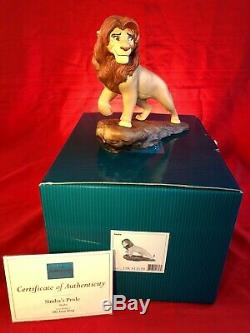 Disneys Roi Lion Wdcc Set Avec Rare Martine Millan Fierté Rock Base De Coas