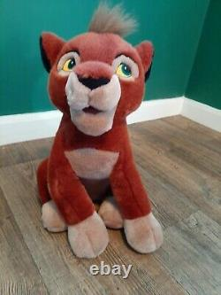 Disneystore Vintage Rare Kovu Assis Peluche Jouet Doux Le Lion Roi 2 (simba)