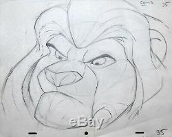Encadré Walt Disney Animation Art Dessin De Production Mufasa Du Roi Lion