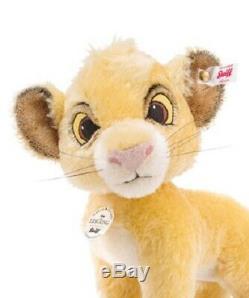 Enregistrer! Steiff Simba Disney Le Roi Lion 10 Mohair 2019 Ltded 355363 Nouveau