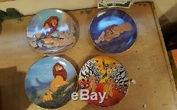 Ensemble De 12 Assiettes De Collectionneur Du Roi Lion Complete Disney Bradford Exchange Avec Coa