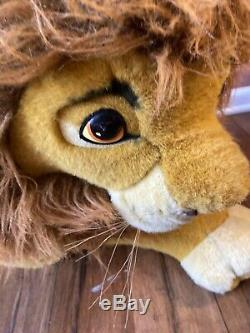 Euc Douglas Co Disney Nestle Énorme Jumbo Roi Lion En Peluche Simba 90 Mufasa Plus