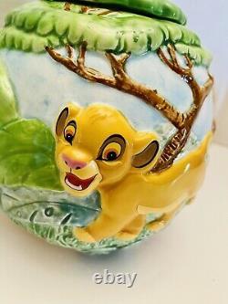 Extrêmement Rare 1994 Disney Lion King Schmid Simba Nala Théière Musicale En Céramique