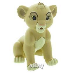 Extrêmement Rare! Walt Disney Le Roi Lion Simba Assis Petite Statue Figurine