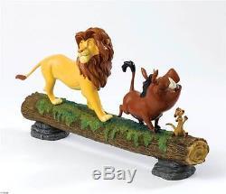 Extrêmement Rare! Walt Disney Le Roi Lion Simba Avec Timon & Pumbaa Figue Statue