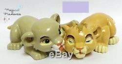 Extrêmement Rare! Walt Disney Le Roi Lion Simba & Nala Statue Figurine Jouant
