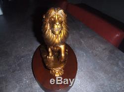 Extrêmement Rare! Walt Disney Le Roi Lion Statue Figurine En Bronze Simba