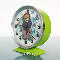 Français Bayard Lion King Vintage Réveil Disney! Mantel Motion! Rare Animation