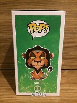 Funko Pop 89 Scar Disney Le Roi Lion Brand New