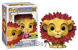 Funko Pop! Disney Simba Withleaf Mane Floque Exclusif Roi Lion