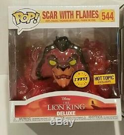 Funko Pop Scar Chase Flames Rouge + Vert Flames # 544 Lion King Deluxe Sujet Chaud