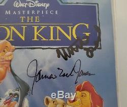 James Earl Jones Et Matthew Broderick Signed Roi Lion Vhs Film Disney Rare Rad