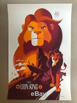 L'impression D'écran Lion King Par Tom Whalen Mondo Disney Film Affiche Art 2014 1994