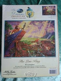 La Collection Rêves Disney The Lion King Kit Point De Croix, Par Thomas Kinkade
