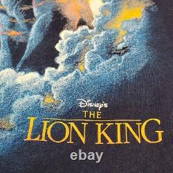 Le Lion King Chemise Vintage 90s Disney Designs Tee Mufasa Movie Promo Medium