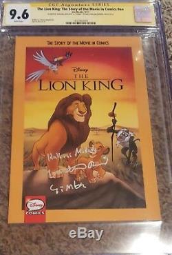 Le Roi Lion # 1 Cgc 9.6 Ss Signé Matthew Broderick W'simba & Hakuna Matata