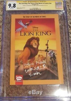Le Roi Lion # 1 Cgc 9.8 Ss Signé Matthew Broderick W'simba & Hakuna Matata