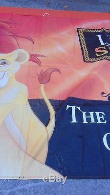 Le Roi Lion, Bannière De La Fierté De Disney Simba, Article De Promotion 10 Pieds Sur 24 Pieds, Rare