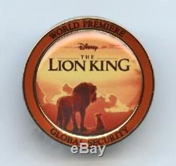 Le Roi Lion De Disney Troupe D'acteurs Première Mondiale De La Sécurité Mondiale Pin