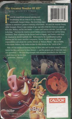 Le Roi Lion De Walt Disney Masterpiece Collection Vhs 2977 Scellés 101819dvhs Rare