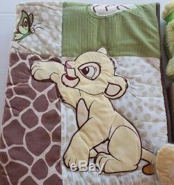 Le Roi Lion Jungle Sauvage A Propos De Vous Lit Bébé Literie 5 Pc. Disney Bébé