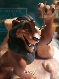 Le Roi Lion La Vie De Wdcc N'est Pas Juste Est-il Scar Figurine Caa Box Disney Villains