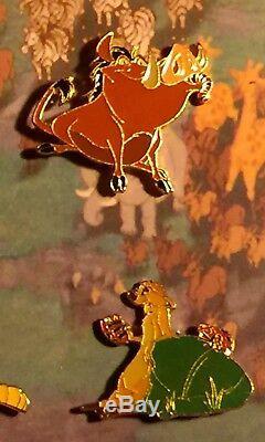 Le Roi Lion Les Principaux Personnages De Disney Exclusif (rare) 6 Pin Set En Coffret Bois