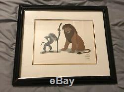 Le Roi Lion Rafiki Et Simba 1994 Sericel Walt Disney Limited Edition