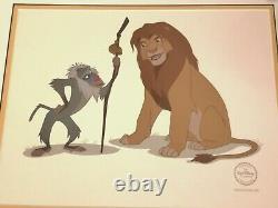 Le Roi Lion Sericel Cel Limited Edition 5000 Walt Disney Rafiki Et Simba Coa