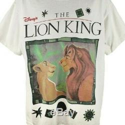 Le Roi Lion T-shirt 90s Vintage Simba Et Nala Disney Jerry Leigh Taille XL