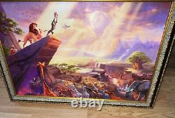 Le Roi Lion Thomas Kinkade (24x36 Toile) Disney Classic 29x41 Cadre (1245 $)