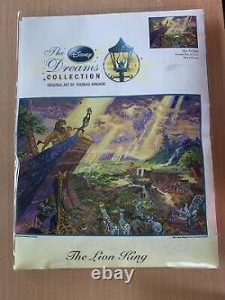 Le Roi Lion Thomas Kinkade Disney Dreams Cross Stitch 16x12
