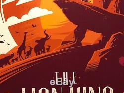 Le Roi Lion Tom Whalen Galerie 1988 Mondo Alamo Drafthouse Disney Print Art