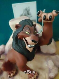 Le Roi Lion Wdcc Disney Scar La Vie Est Injuste, Est-il # 2060 Avec Boîte Et Coa